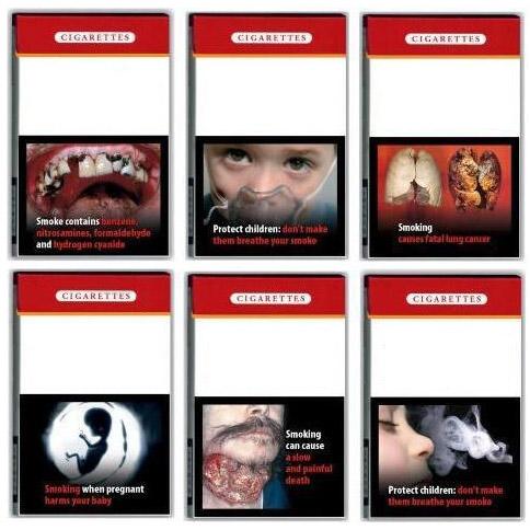 Avertissement sur les paquets de cigarette