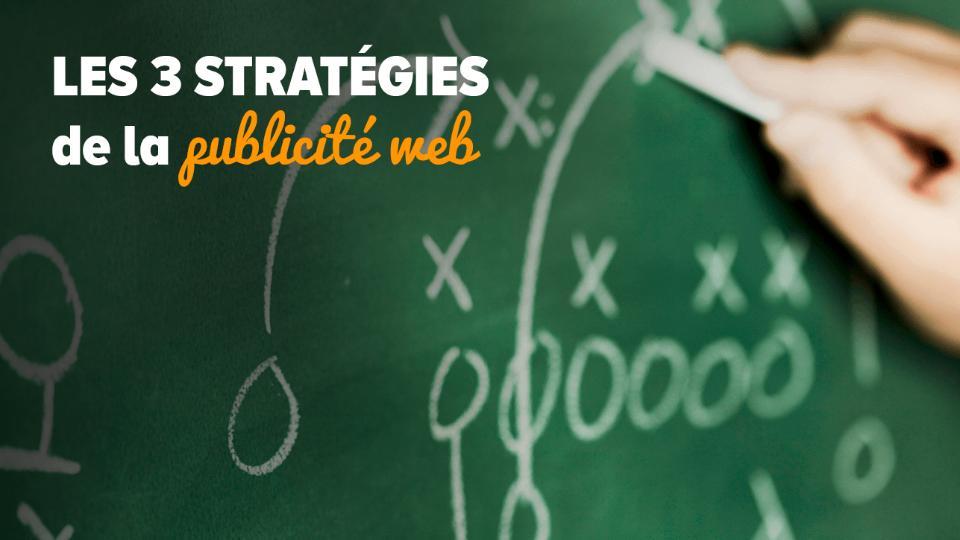 Les 3 stratégies de la publicité web