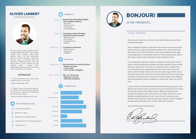 exemple cv indesign