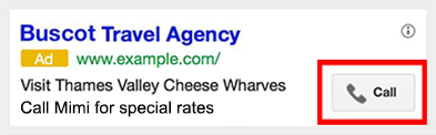 Extensions d'appels dans google AdWords