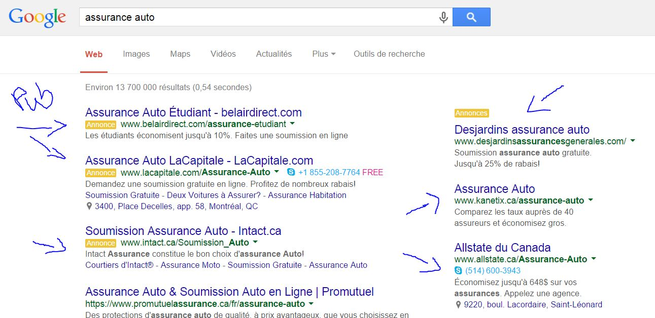 adwords ads assurance auto