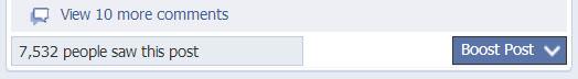 Facebook nous propose toujours de booster nos publciation et nous montre la portée