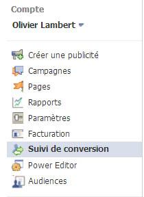 suivi de conversion facebook ads