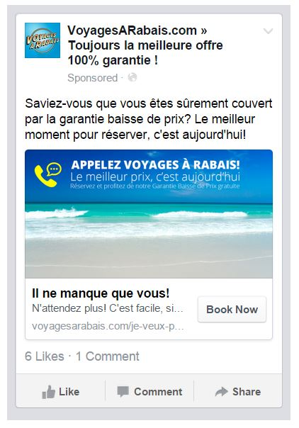 click to call annonce facebook