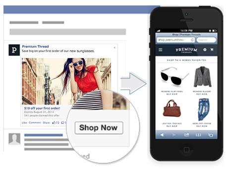 Appels à l'action des publicités Facebook