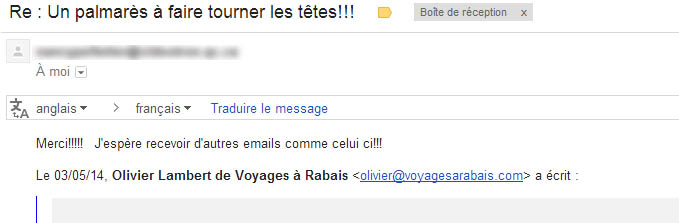 gmail courriel de remerciement