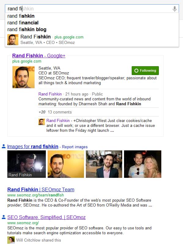 google+ serp impact