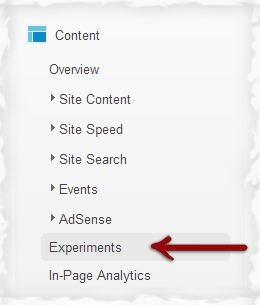 Google Content Experiment.