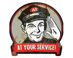 service man retro