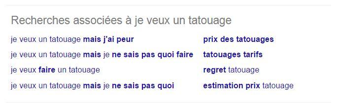recherche associés sur google